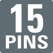 15 PINS