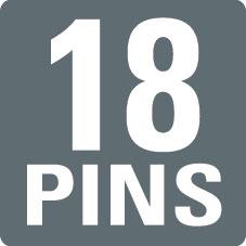 18 PINS