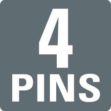 4 PINS