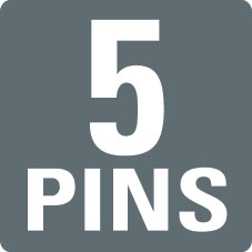 5 PINS